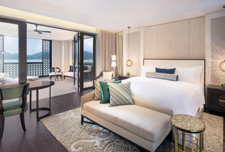 五星级标准酒店客房空间布局设计实景图