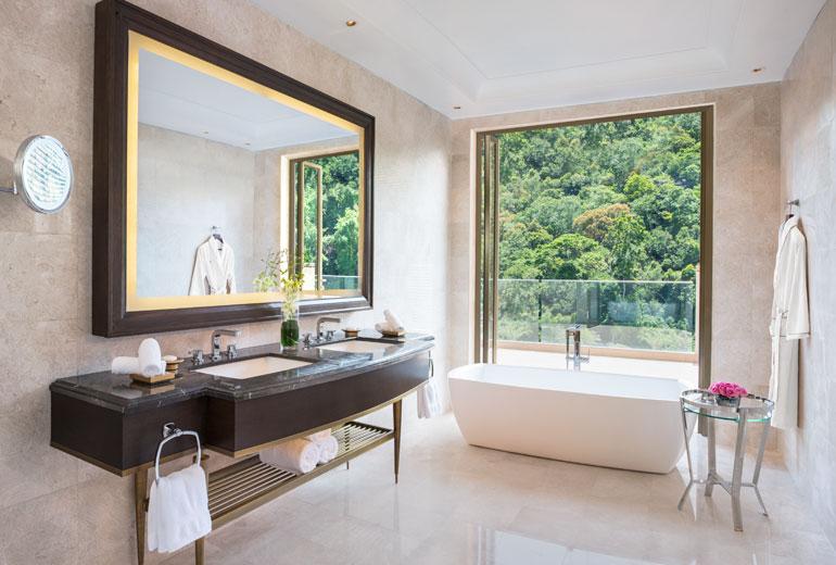 豪华大气的客房局部区域:浴缸