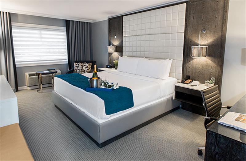 精致舒适的酒店客房空间布局
