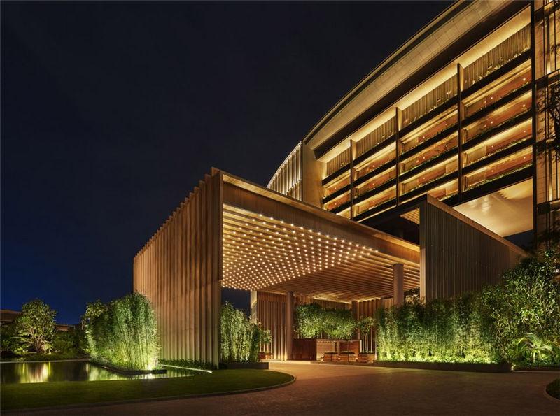 酒店建筑局部外观