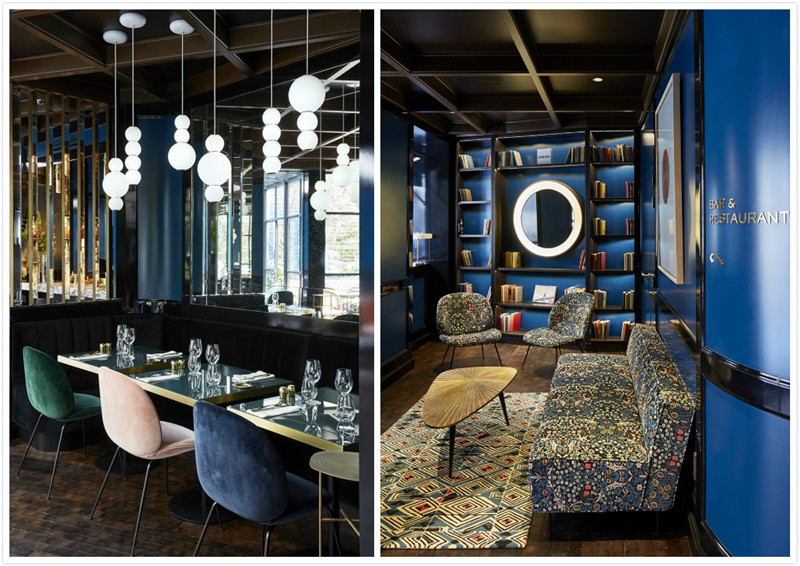 图书室以及餐饮空间细节欣赏