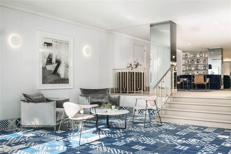 清淡优雅的酒店大堂设计案例