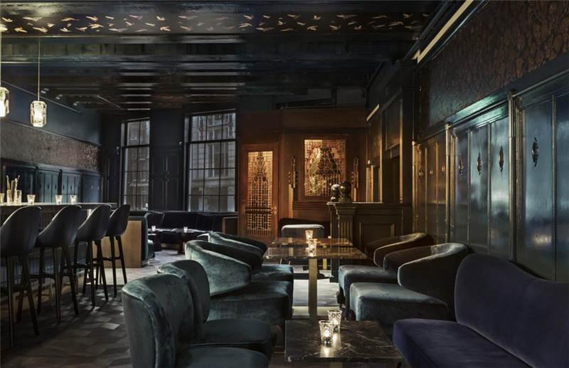 酒店酒吧局部餐饮空间设计实景图