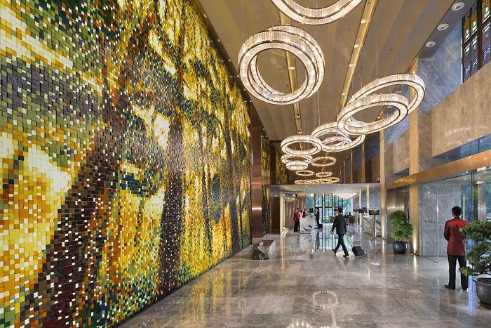 酒店大堂空间——奢华优雅的浦东文华东方精品酒店设计实景图