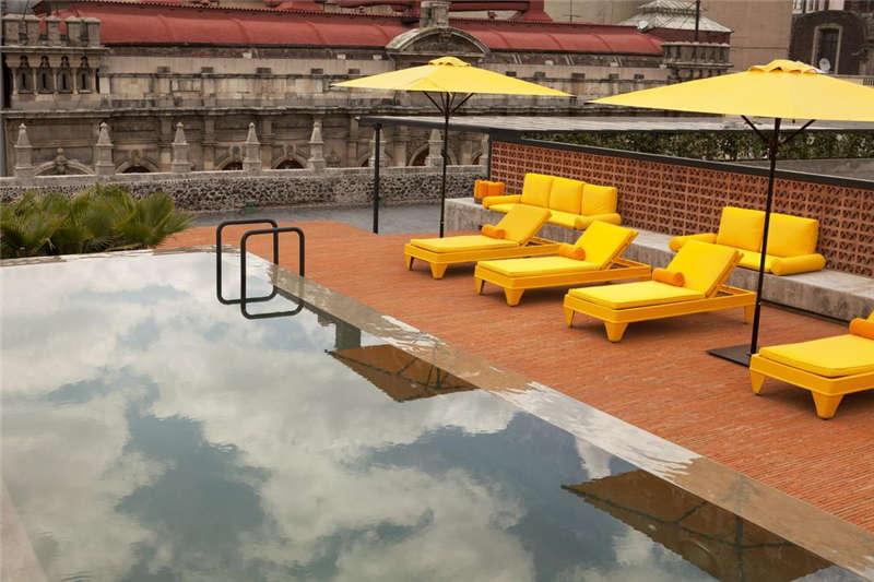 墨西哥市区特色精品酒店室外空间设计案例