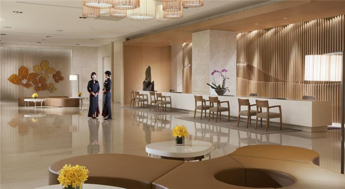 精致优雅的酒店大堂空间设计实景图