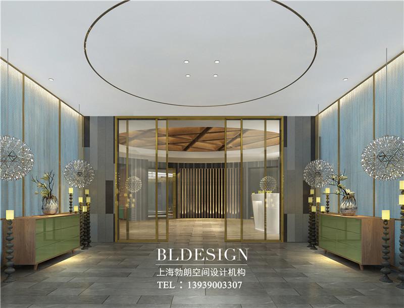 沧州喜达尔精品酒店大堂入口门厅设计图