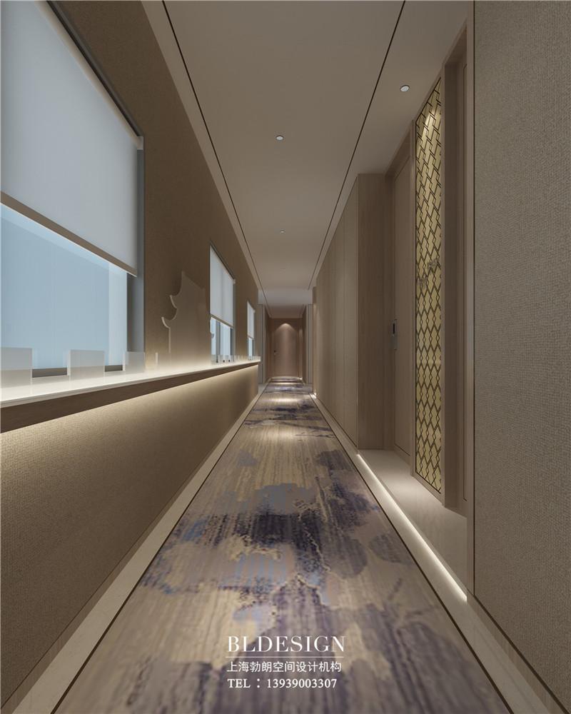 精品商务酒店客房单边走廊设计图.jpg