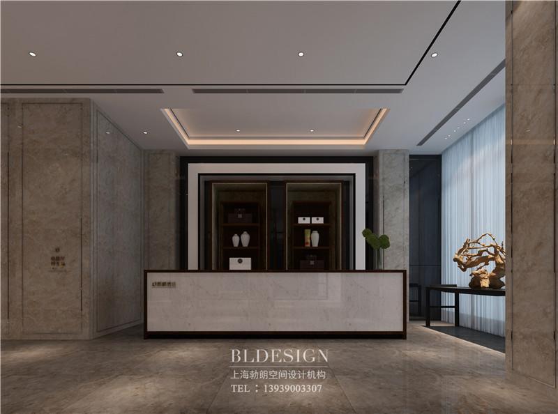 兰泽水舍酒店接待处设计