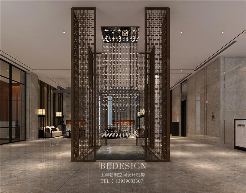 兰泽水舍酒店大厅设计