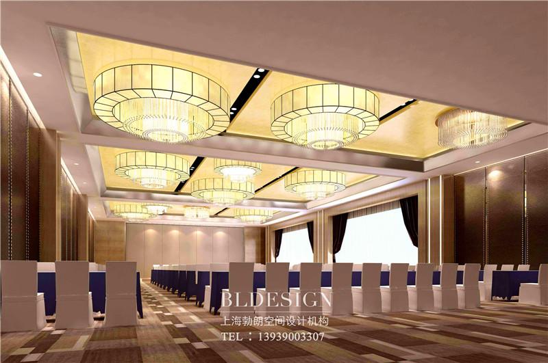 河南万盛商务酒店会议厅设计