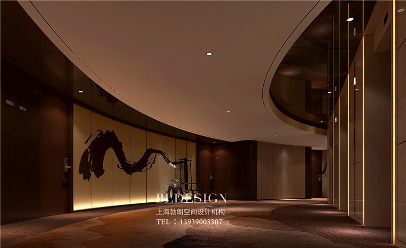三门峡紫金宫酒店大厅设计案例
