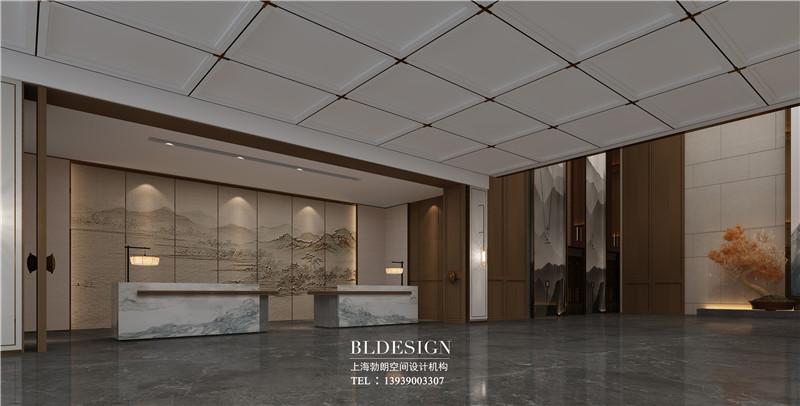 项城德银三星酒店大厅装修设计效果图