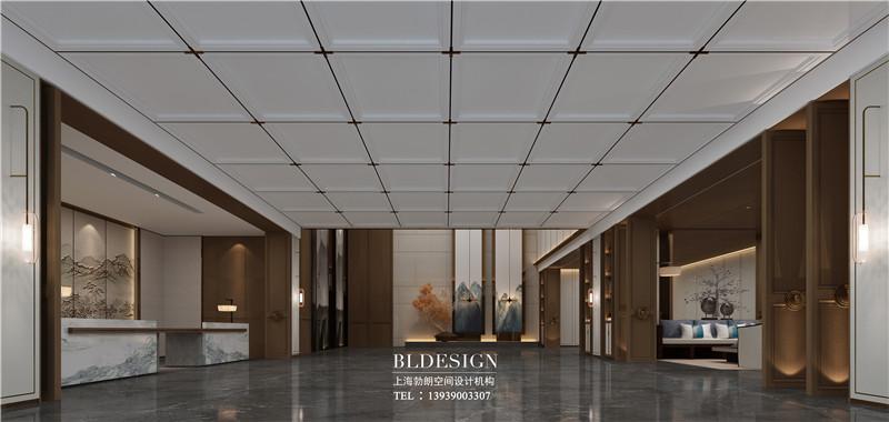 项城德银三星酒店大堂装修设计效果图