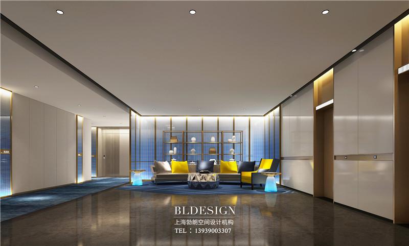 项城德银三星酒店电梯厅装修设计效果图