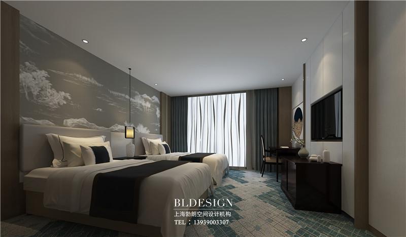 德银精品商务酒店新中式客房装修设计图