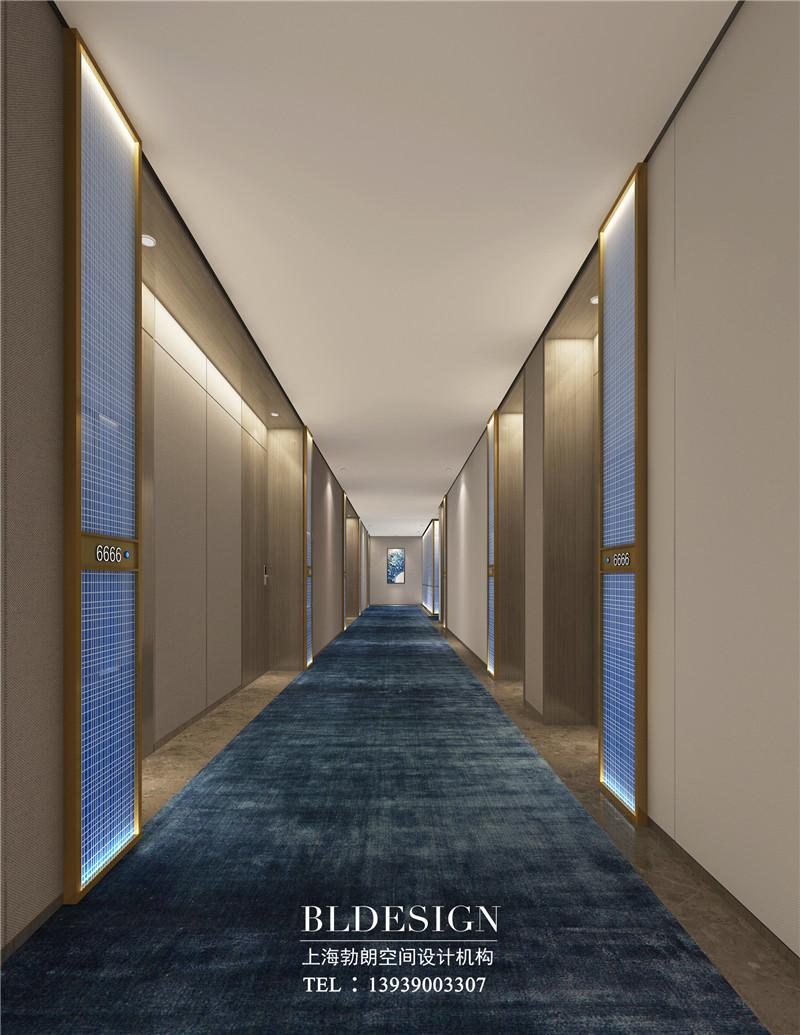 德银精品商务酒店客房走廊装修设计图