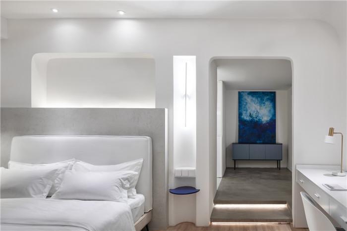 郑州勃朗设计分享简约朴质的白居精品酒店客房设计方案