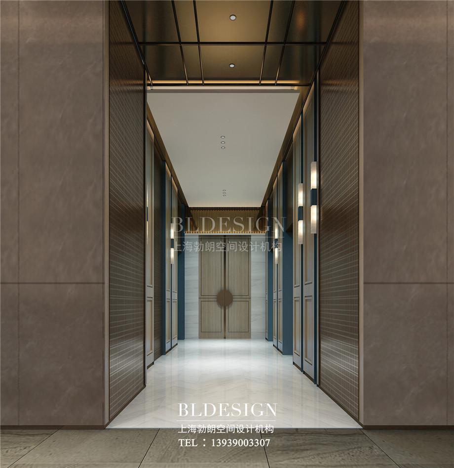 安阳酒店设计-林州望山精品商务酒店电梯厅设计案例效果图.jpg