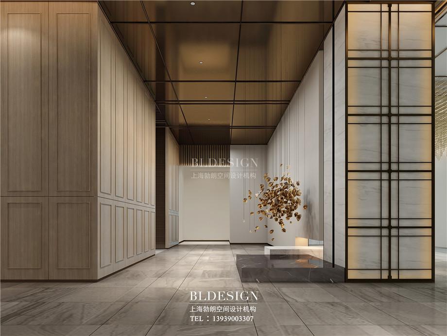 河南安阳曙光精品商务酒店大厅装修设计方案效果图