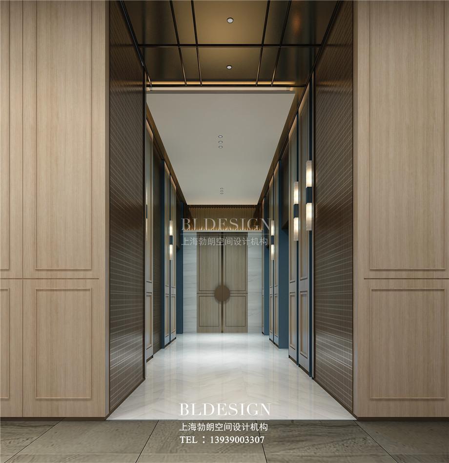 河南安阳曙光精品商务酒店电梯厅区设计方案效果图