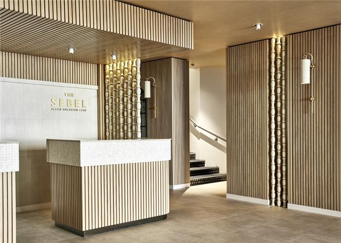 环保自然的北欧风悉尼塞贝尔酒店接待台改造设计方案