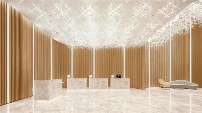深圳云著精品商务酒店接待大厅设计  探索商旅酒店设计新方式