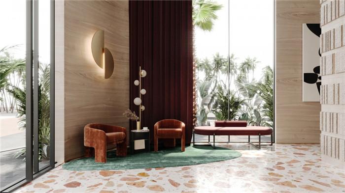 勃朗酒店设计公司推荐国外轻奢风豪斯酒店大厅休闲区设计