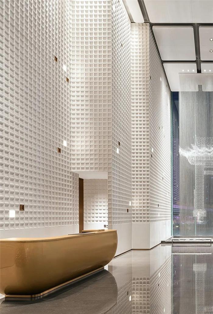 知名酒店设计公司杨邦胜新作:南京金鹰G酒店大堂接待台设计