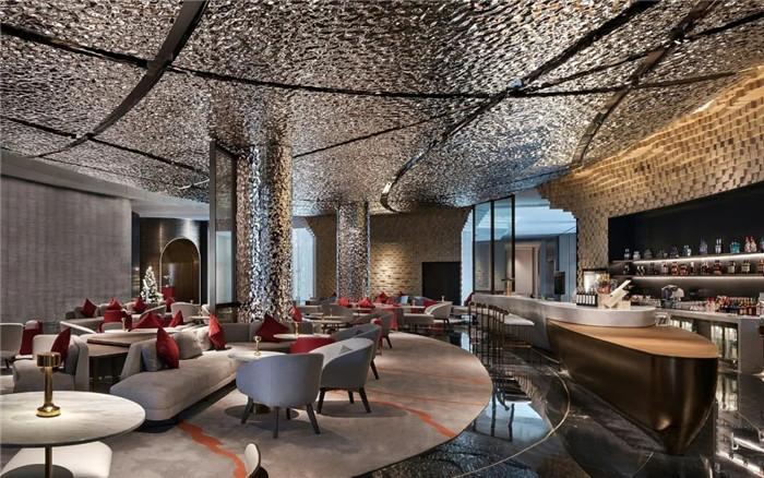知名酒店设计公司杨邦胜新作:南京金鹰G酒店大堂吧设计