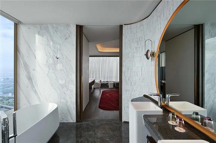 知名酒店设计公司杨邦胜新作:南京金鹰G酒店客房卫生间设计方案