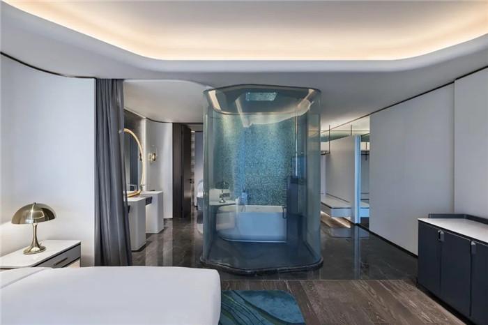 知名酒店设计公司杨邦胜新作:南京金鹰G酒店客房设计图