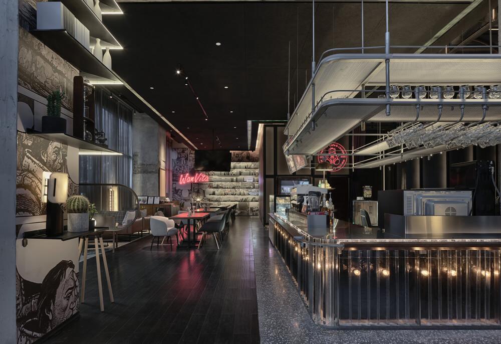 万达+京东联手打造宁波万达美华跨界IP酒店酒吧设计