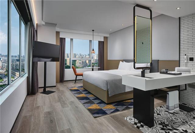万达+京东联手打造宁波万达美华跨界IP酒店大床房设计