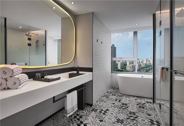 万达+京东联手打造宁波万达美华跨界IP酒店客房卫生间设计