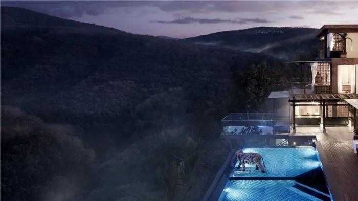 云南景洪森氧villa东南亚风度假酒店泳池设计方案