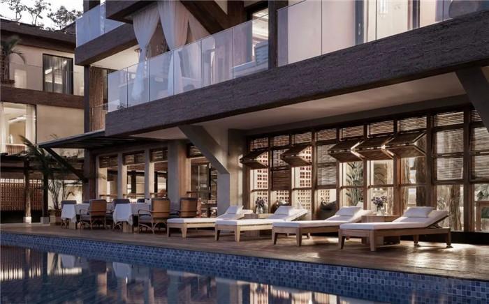 云南景洪森氧villa东南亚风度假酒店户外泳池设计方案