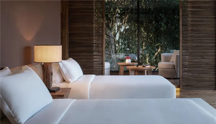 云南景洪森氧villa东南亚风度假酒店标准客房设计方案