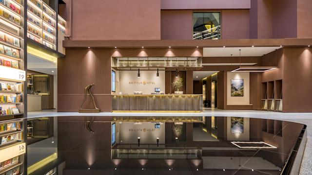 亚朵首家新知社区中心酒店——爱琴海亚朵S酒店前台设计