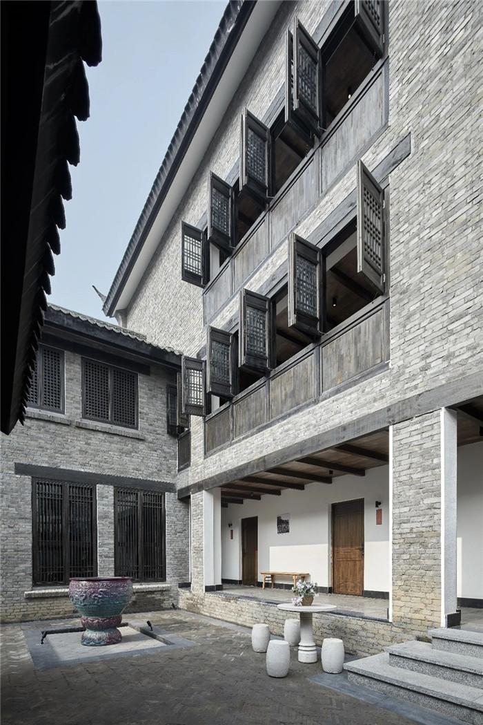 中式民宿设计  河南禹州钧瓷文化主题民宿庭院景观设计方案