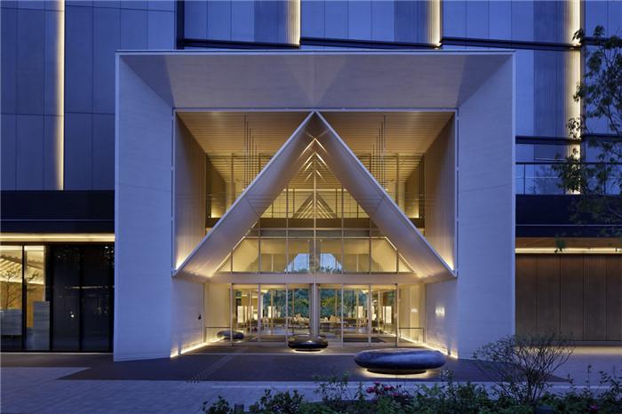 现代日式酒店设计   东京Sorano度假酒店入口设计赏析