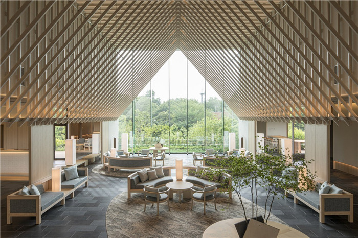 现代日式酒店设计   东京Sorano度假酒店大堂设计赏析