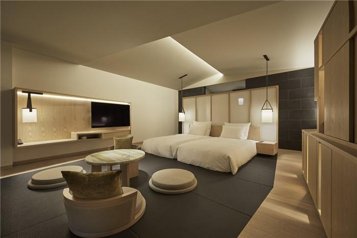 现代日式酒店设计   东京Sorano度假酒店标准客房设计赏析