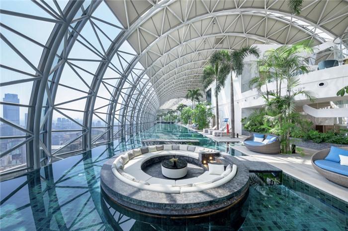 重庆来福士住宅区俱乐部泳池设计方案