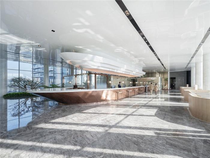 重庆来福士洲际酒店大堂接待台设计方案