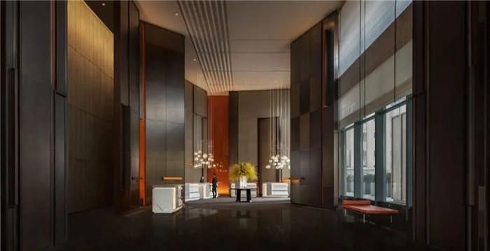 看东西方文化交融  西安洲际国际标准五星级酒店大厅接待台设计
