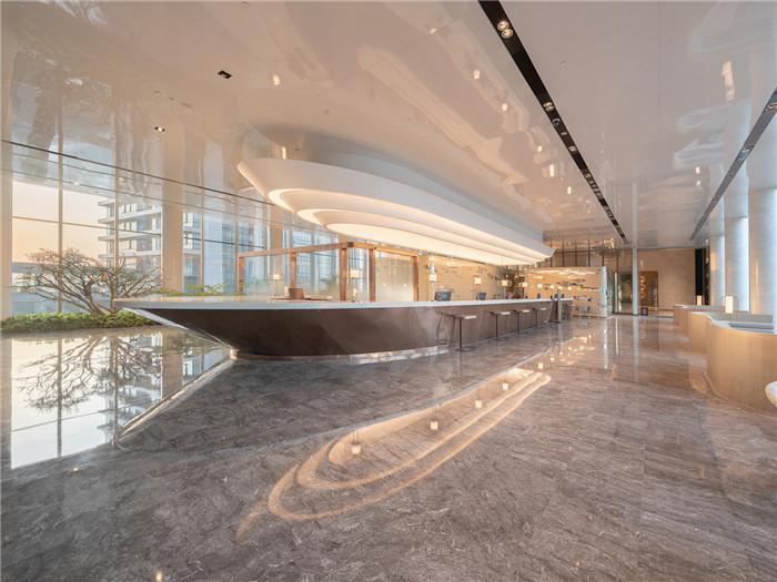 知名设计公司CL3新作:重庆洲际洲际酒店大堂接待台设计