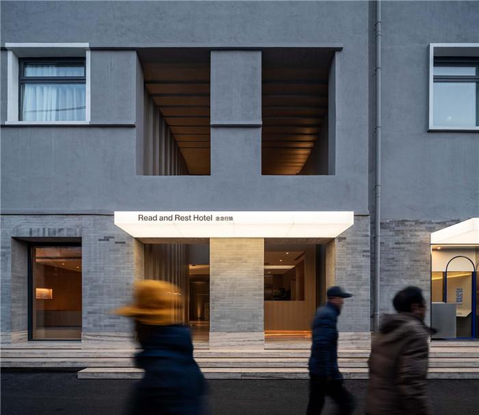 酒店外立面设计-念念行旅  一个主打阅读的小型精品酒店设计案例