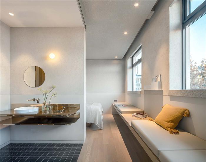 客房卫生间设计-念念行旅  一个主打阅读的小型精品酒店设计案例