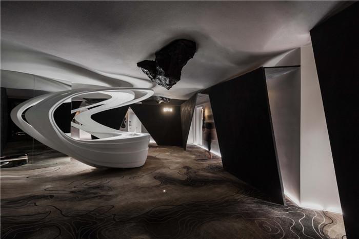 酒店大堂设计图-以水为灵感的都市网红精品酒店设计方案